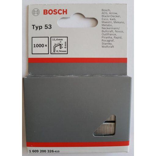BOSCH 1609200326 Kapocs 1000db-os 11.4x6mm