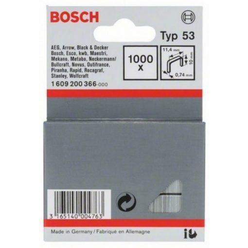 BOSCH 1609200366 Kapocs 1000db-os 11,4x10mm