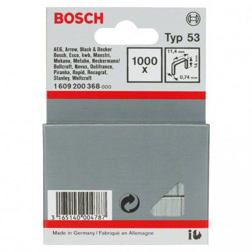 BOSCH 1609200368 Kapocs 1000db-os 11.4x14mm