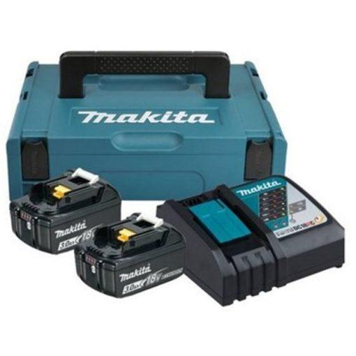 MAKITA 197952-5 18V LXT Li-ion 2x3,0Ah Akku BL1830B + DC18RC töltő készlet + MACPAC