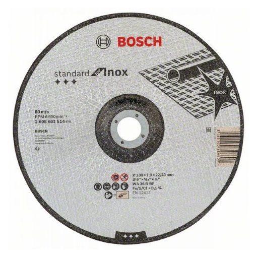 BOSCH 2608601514 Vágótárcsa Standard for Inox 230x1,9mm