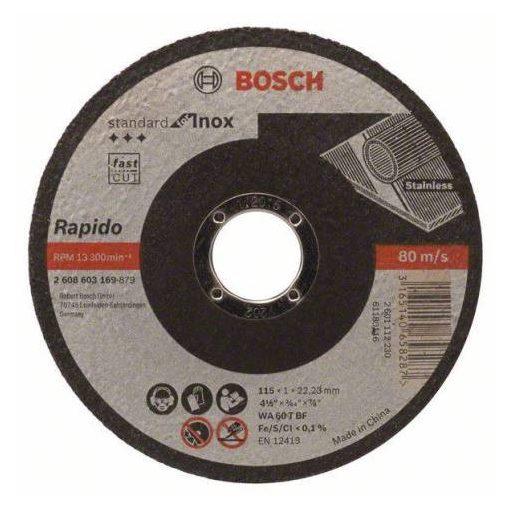 BOSCH 2608603169 Vágótárcsa TS Standard for INOX 115x1,0 gera