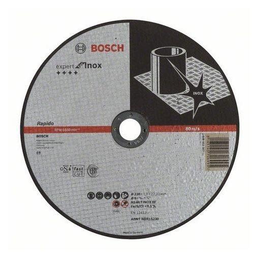 BOSCH 2608603407 Vágókorong 1db Expert Inox230x1, 9x22, 23mm