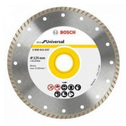 BOSCH 2608615037 Gyémánt darabolótárcsa Eco or Universal Turbo 125x22.23mm