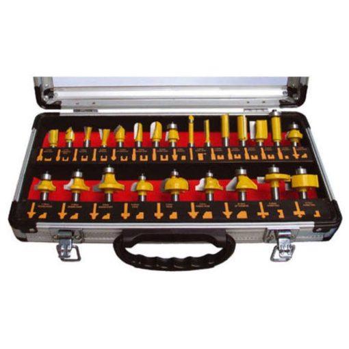 EXTOL 44039 Felsőmaró készlet 24db-os 8mm