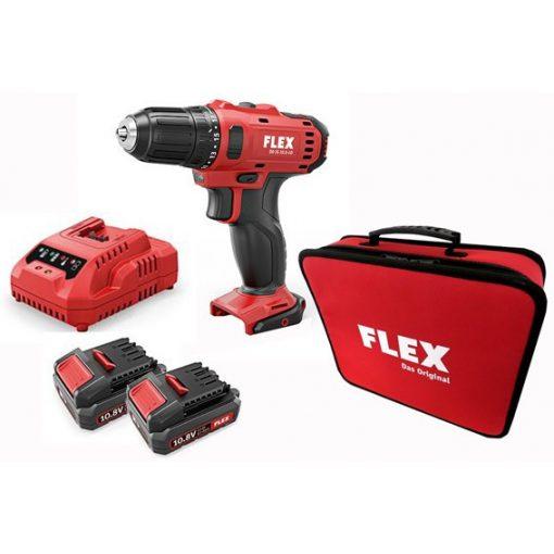 FLEX DD2G10.8-LD Akkus Fúró 10,8V 2x2,5Ah (450561)