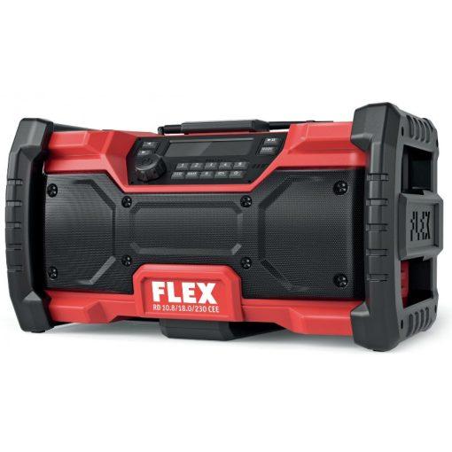 FLEX 484857 RD 10.8/18.0/230 Akkus és hálózati építkezési rádió CEE Akku és töltő nélkül (484857)