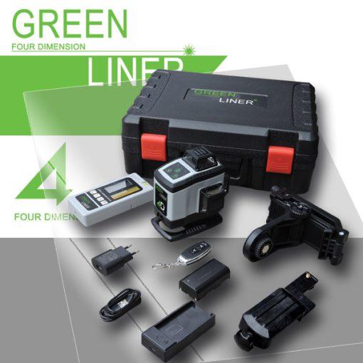 4D Green liner Zöld szintezőlézer+Vevőegység (4D-GL+GLV)