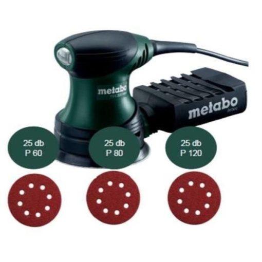 METABO FSX200Intec Excenter Csiszoló+75db tépőzáras csiszoló (602922551-HU)