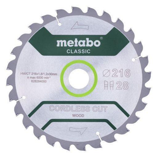 METABO 628284000 Cordless Cut Classic 216x30mm Z28