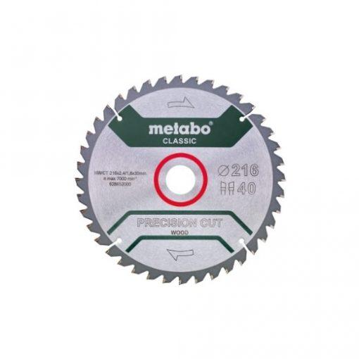 METABO 628652000 Körfűrészlap Precision Cut Classic 216x30 Z40