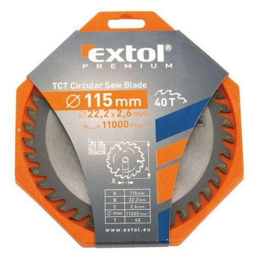 EXTOL 8803203 Körfűrészlap 115x22.2mm Keményfémlapkás