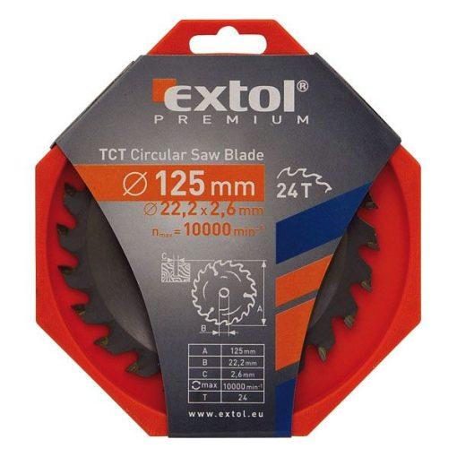 EXTOL 8803206 Körfűrészlap 125x22.2 Keményfémlapkás