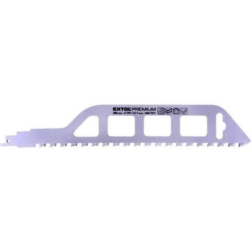 EXTOL 8806300 Szablyafűrészlap 1db 305mm HM/TCT fogak 2T fa kőzet anyagokhoz, durva vágás