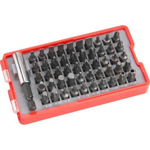 EXTOL 8819642 Behajtó Készlet Komplett.51db-os lapos:3-7mm PH0-3 PZ0-3