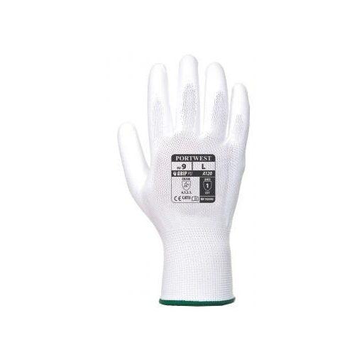 PORTWEST A120WHRXL Nylon Kesztyű PU Tenyérmártott-Fehér A120 XL 10-es