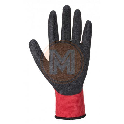 PORTWEST A174R8RXXL FLEX GRIP Latex Glove-Piros-Fekete A174 XXL 11-es