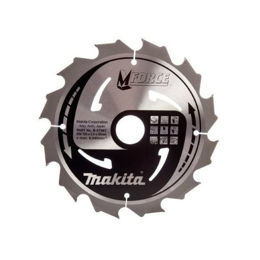 MAKITA B-07967 Körfűrészlap 190/30mm Z12 MFORCE