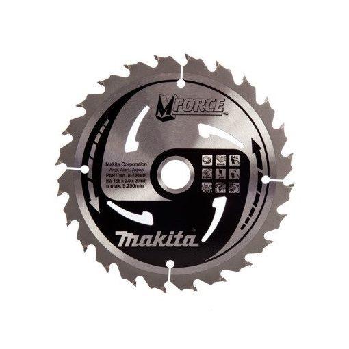 MAKITA B-08006 Körfűrészlap 165/20mm Z24 Mforce