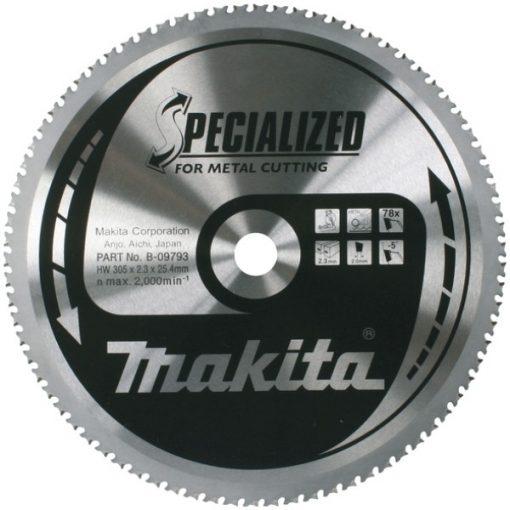 MAKITA B-09793 Körfűrészlap fémre 305x25,4mm Z78