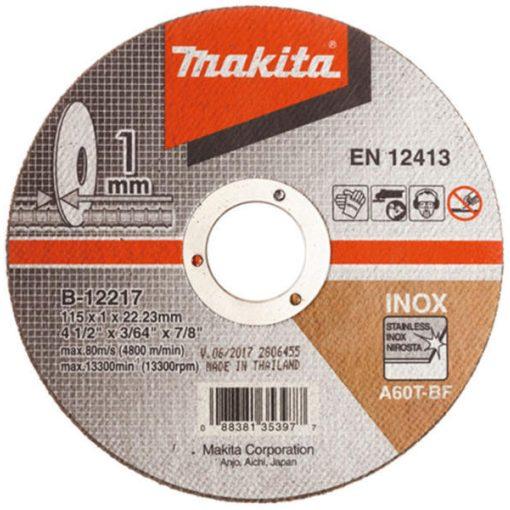 MAKITA B-12217 Vágókorong 1db 115x22.2-1mm INOX