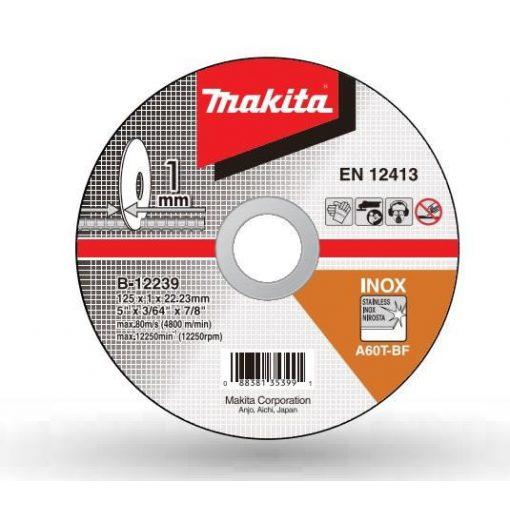 MAKITA B-12239 Vágókorong 1db 125x22-1mm INOX