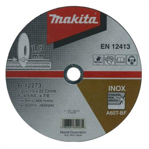 MAKITA B-12273 Vágókorong 1db 230x22.2-1.9mm INOX