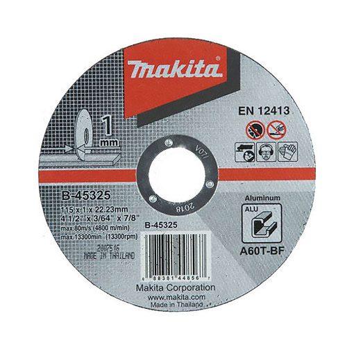 MAKITA B-45325 Vágókorong ALU 1db 115X22.2-1mm
