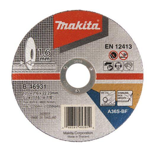 MAKITA B-46931 Vágókorong INOX 125x1,6 mm