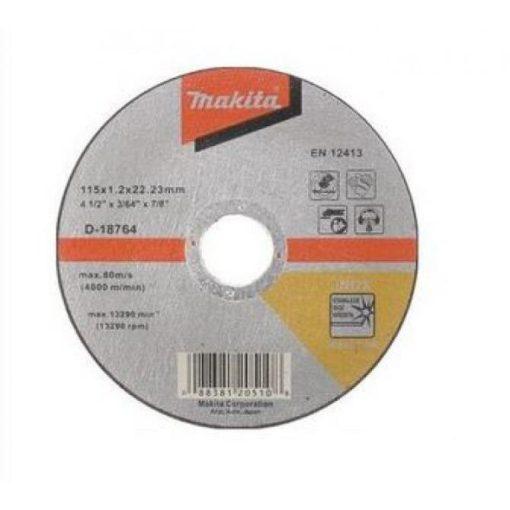 MAKITA D-18764 Vágókorong INOX 1db 115x22.2-1.2mm