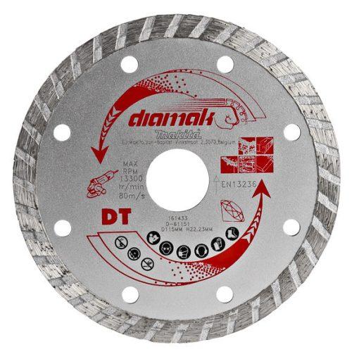 MAKITA D-61151 Gyémánttárcsa 115mm Diamak Turbo