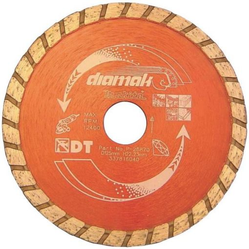 MAKITA D-61167 Gyémánttárcsa 125mm Diamak Turbo
