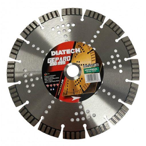 DIATECH GE230 Gyémánt Vágótárcsa 230x22,2x12mm Turbó Univerzális