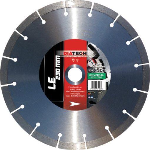 DIATECH LE230 Gyémánt Vágótárcsa 230x22.2x10mm Standard beton/uni.