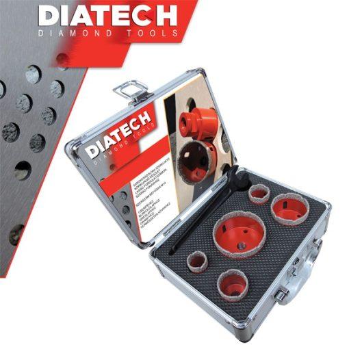 DIATECH PGYCSFK2-D40M Gyémánt készlet-1 M14 Sarokcsiszolóhoz 25-30-35-50-68 + D40M Távolságmérő